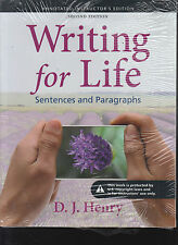 Writing For Life Sentences and Paragraphs 2nd Edition ISBN 9780205885398
