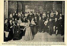 Feier zum 50jähr.Bestehen des Sternschen Konservatoriums  Bilddokument 1900