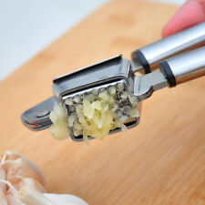 Stainless Steel Garlic Press Removable Insert Sturdy Gadgets Home Kitchen Tools