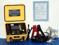 AEMC 6250 Micro-Ohmmeter DLRO NIST Calibrated with Carry Case, Clamps + Warranty