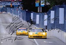 Corvette Corvette CR.6 Racing SIGNED by 6  12x8 ALMS Baltimore Grand Prix  2013