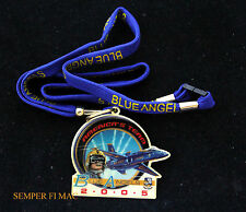 2005 US NAVY BLUE ANGELS LANYARD PIN UP MARINES VIP USS F-18 C-130 AIRSHOW PILOT