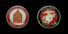US MARINE CORPS GUNNERY SERGEANT RANK CHALLENGE COIN MILITARY COLLECTIBLE COINS