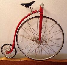 Byers' Choice Carolers Penny Farthing Style Red High Wheeler Wheel Bike Bicycle