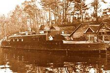 WW1 - Guerre 14/18 - Péniche transformée en canonnière
