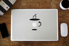 """Coffee Cup Vinyl Decal Sticker for Apple MacBook Air/Pro Laptop 11"""" 12"""" 13"""" 15"""""""