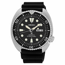 New Seiko SRP777 Prospex Automatic Diver Black Dial Silicone Strap Mens Watch