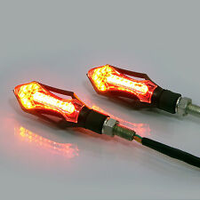 Motorcycle Motorbike Black LED E-marked Indicators Integrated Stop & Tail Lights