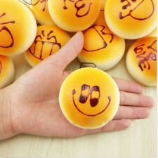 Cute Smile Squishy Buns Bread Charms Squishies Cell Phone Straps 5cm Useful