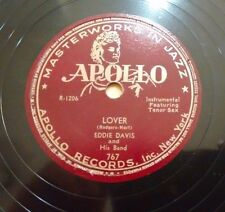 EDDIE DAVIS and His Band Apollo 767 - Lover / Licks A Plenty Modern Jazz 78 EE-