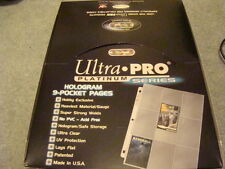 ~! Ultra Pro Platinum 100 Card Binder Sleeves Box Yugioh Magic Pokemon ~!