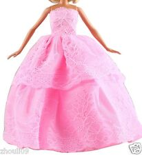Handwork soft Princess Party Dress/Evening Clothes/Gown For Barbie Doll  1094