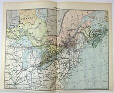 Original 1892 Railroad Map of Eastern Canada