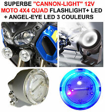 SUPERBE CANNON-LIGHT DIAM 5CM + FLASHLIGHT + CERCLAGE ANGEL EYE! PACE-CAR HARLEY
