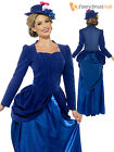 Ladies Deluxe Mary Poppins Fancy Dress Costume Adult Victorian Nanny Book Week
