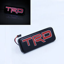 TRD LED Light Front Grill Grille Emblem Badge For Toyota Camry Corolla Yaris