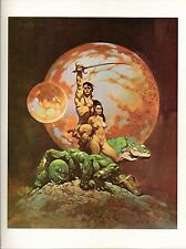 "1977 full Color Plate ""A Princess of Mars"" by Frank Frazetta Fantastic Sexy GGA"