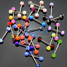 Wholesale 30pcs Different Tongue Nipple Bar Rings Barbell Body Jewelry MA