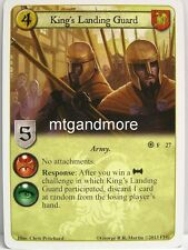A Game of Thrones LCG - 1x King's Landing Guard  #027 - Fire and Ice