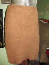 Ralph Lauren  Brown Suede Faux Wrap Pencil Skirt SZ 16 MSRP $599.98