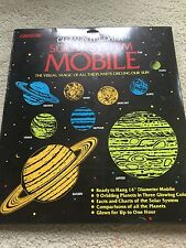 "Vintage 1990 Glow In The Dark Solar System Mobile By Illuminations 14"" Diameter"