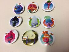 10XDreamworks Trolls Badges Toy Party Bag Filler Gift Birthday Loot Doll Figure