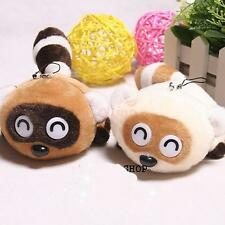 Raccoons Plush Doll Soft Toy Cell Phone Chain Pendants Charms Strap For Handbag
