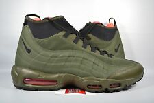 NEW Nike Air Max 95 Sneakerboot DARK LODEN CARGO KHAKI OLIVE 806809-300 sz 14