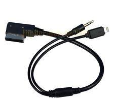 AMI AUX Charge Audio Adapter 8-PIN Lighting Cable for Audi iPod iPhone 5 5S 6