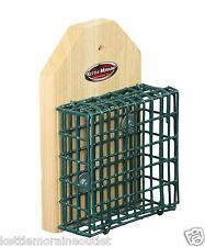 Kettle Moraine Screw On Pole or Tree Mount Single Suet Cage Bird Feeder