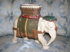 Ornate Royal Worcester Hadley Elephant Spill Vase Dated 1873; As Found
