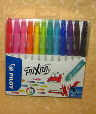12 PENNARELLI CANCELLABILI FRIXION COLORS by PILOT PUNTA M  cod.14807