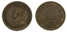 Canada 1929 Small Cent Regular 9 F-15 King George V