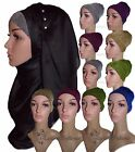 NEW GLITTER UNDER BONNET PARTY HIJAB SCARF HAIR COVER BONE SLIP ON CAP JILBAB