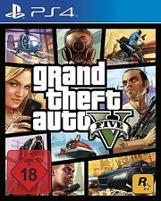 GTA 5 v grand theft auto 5 v ps4 playstation 4 jeu uncut allemand article neuf