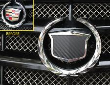 Cadillac CTS-V Vinyl carbon fiber emblem decals 2003-07