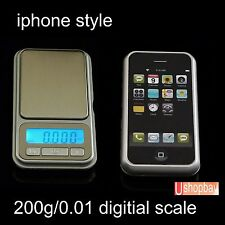 200g/0.01g Pocket scale Digital Jewelry Iphone Mobile phone style 200gm/0.01gm