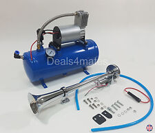 43CM TRUMPET AIR HORN 12V 150DB CAR TRUCK RV WITH 150 PSI 6 LITER AIR COMPRESSOR