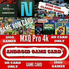 Android Tv Box Game Card MXQ,T95X, V88, XGODY, M9S, Game card w/1,500 Games