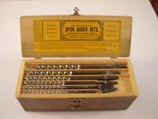 RUSSELL JANNINGS SPUR AUGER BITS 13 EA ONE SET 32 1/2 QUARTERS FIG, NO.100