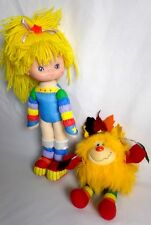 Vintage 80's Rainbow Bright Doll And Spright Dog Toys Hallmark Mattel