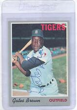 Gates Brown 1970 Topps #98 Autographed Baseball Card Detroit Tigers DECEASED