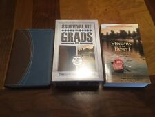 NIV Compact Bible Blue / Brown + Streams In The Desert For Grads - Survival Kit