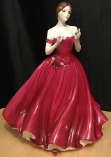 Royal Worcester Keepsake Special Edition Figurine Rare Red Colourway