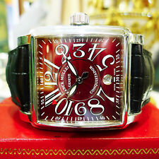 Franck Muller Conquistador CORTEZ 10000 HSC Stainless Steel RED dial Men's Watch