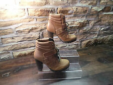 Ladies ALDO JALIN BROWN SUEDE/LEATHER ANKLE BOOTS UK 5 EU 38 RRP £110 ONLY £35