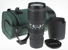 Sigma 100-300mm f/4 APO EX HSM AF IF Lens For Canon +pouch +hood +adapter ring
