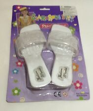 Girl dress up shoes Gift kids Toy Christmas Present White Pretty Cute Glamorous