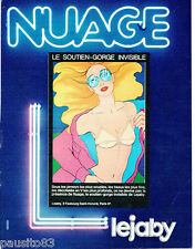 PUBLICITE ADVERTISING 115  1976  LEJABY  soutien gorge  invisible NUAGE