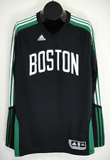 Boston Celtics NBA Adidas Jersey 2XL XXL Black Long Sleeve V-Neck Clima Cool